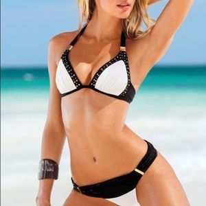 Victoria's Secret Bikini Black, White and Gold